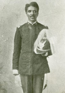 Carver in National Guard Student Battalion uniform