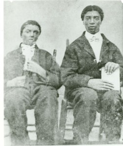 George Carver, on left, with his brother, Jim, circa 1870's