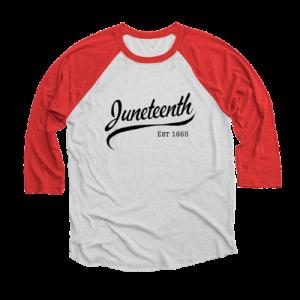 Juneteenth baseball shirt